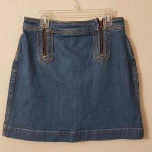 Anthropologie   Pilcro Mini Denim Double Zip Skirt